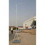 Asta telescopica con base riempibile